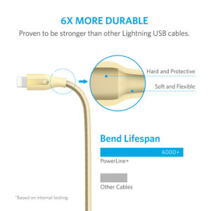 Anker Powerline+ Lightning Cable (6FT) [Double Braided Nylon] pictures & photos
