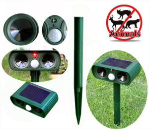 Solar Ultrasonic PIR Anti Animal Snake Dog Cat Repeller Multifunction Repellent pictures & photos