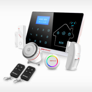 Wireless GSM and PSTN Standard Package Security Alarm System with Touch Keypad pictures & photos