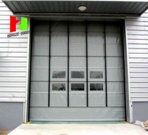 Safety PVC Material Fast High Speed Warehouse Rolling Shutter Stacking Door (Hz-FC022 pictures & photos