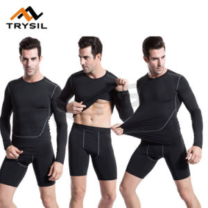 Gym Tight Compression Sport Clothing Fitness Sets Wearing pictures & photos