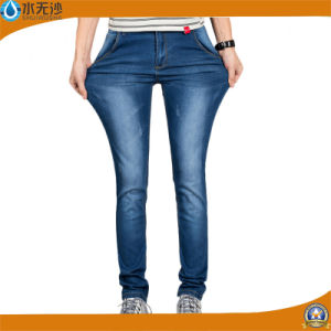 Factory OEM Basic Skinny Jeans Blue Denim Pants for Men pictures & photos