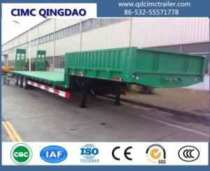 Cimc 3 Axles Low Flatbed Semi Truck Trailer Truck Chassis pictures & photos