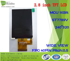"2.8"" IPS 240*320 MCU 16bit, IC: St7789V, Full View TFT LCD Display pictures & photos"