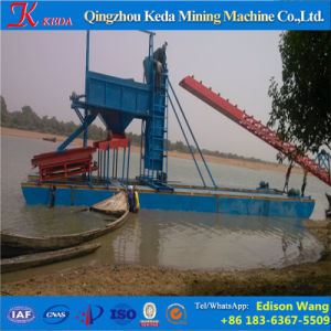 Professional Chain Bucket Sand Gold Dredger for Sale pictures & photos