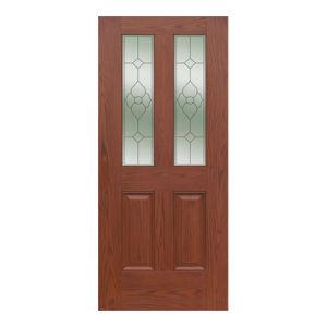 Oak Wood Grain Single-Leaf Door Sheet pictures & photos
