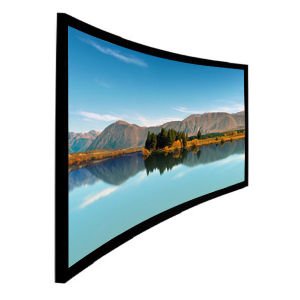 "180"" 16: 9 Curved Projection Screen with Black Velvet Frame pictures & photos"