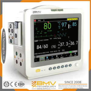 Monitoring ECG Resp NIBP SpO2 Pr Temp Hospital Equipment (VS12) pictures & photos