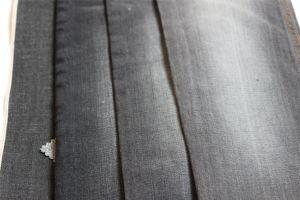 Cross Hatch Slub Cotton Spandex Selvage Denim in Black Color pictures & photos