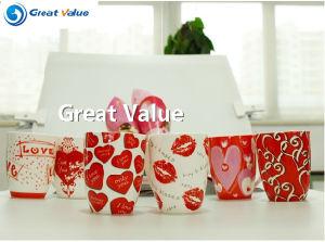 300cc Heart Design Ceramic Coffee Mug pictures & photos