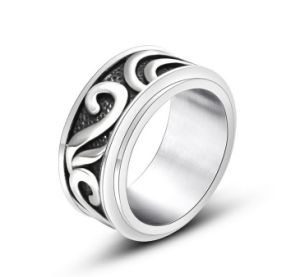 Vintage Flower Pattern Men′s Ring Stainless Steel pictures & photos