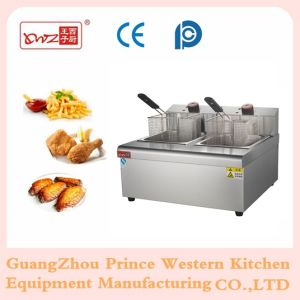 Electric Deep Fryer with 2-Tank 2-Basket for Frying Food Machine with Ce pictures & photos