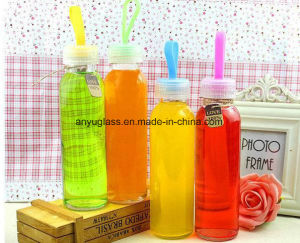 300ml, 350ml, 500ml Glass Beverage Bottles Glass Juice Bottles with Lid pictures & photos