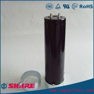 Screw-Type Aluminum Electrolytic Capacitor with Mounting Frame pictures & photos