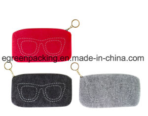 Felt Bag /Case for Eyeglasses /Sunglasses/ Makeup with Zipper (F3) pictures & photos