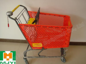 Plastic Retail Store Convenient Supermarket Shopping Trolley pictures & photos