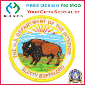 U. S. a Slutty Buffaloes 100% Machine Embroidered Plaque pictures & photos