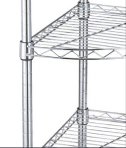 New Chrome 4 Tier Corner Rack Display Shelving Rack Wire Shelving pictures & photos