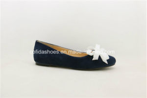 SGS Approved High Quality Hand-Made Leather Lady Shoes pictures & photos