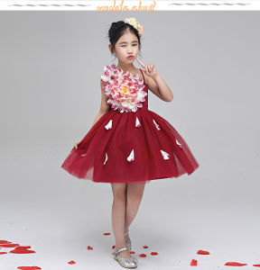 Children Dress Custom Any Color 100% Polyester The Little Princess Skirt pictures & photos