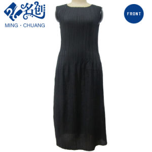 Newstyle Black Pocket Pleated Strips Slim Sexy Fashion Summer Women Dress pictures & photos