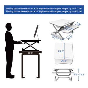 "Loctek 27"" Wide Platform Height Adjustable Standing Desk Riser, Sit-Stand Workstation, White (MT101S) pictures & photos"