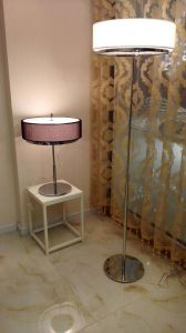 So Wonderful Design Hotel White Modern Floor Standing Reading Lighting Floor Lamp for Bedroom in Fabric Shade pictures & photos
