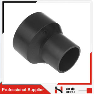 Black HDPE Material Plastic Water Pipe Fittings Eccentric Reducer pictures & photos