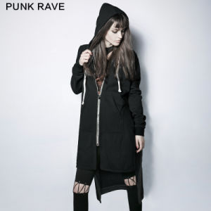 Py-216 Punk New Autumn Vampire Dark Skinny Simple Hoded Coat pictures & photos