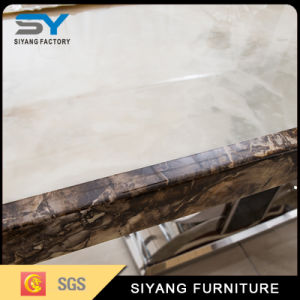 Chinese Furniture Marble Dining Table with 6 People pictures & photos