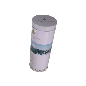 Wine Box Plastic Lid Round Tin Packaging for Promotion pictures & photos