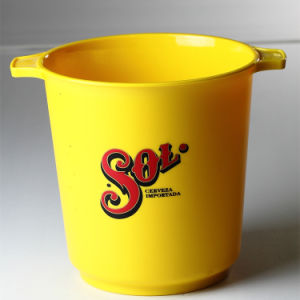 Gold Plastic Cold Drinks Cooler Ice Bucket pictures & photos