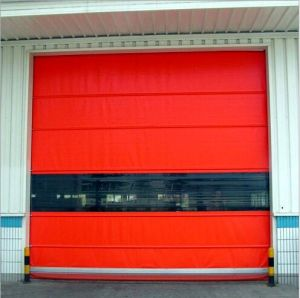 Outdoor Carwash PVC Fabric Material High Speed Automatic Roll up Door pictures & photos