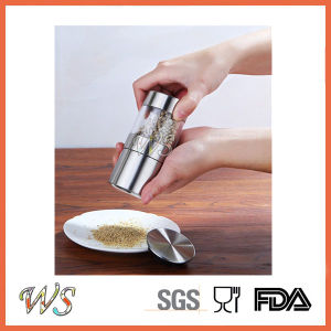 Ws-Pgs019 Small Size Manual Stainless Steel Salt and Pepper Grinder Set pictures & photos