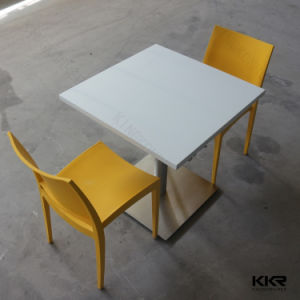 Material Solid Surface Coffee Shop Table with Chairs pictures & photos
