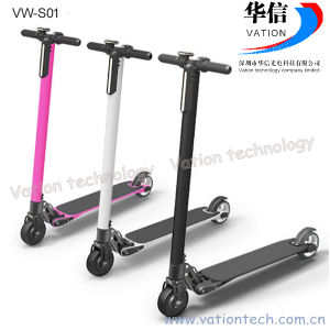 Carbon Fiber Electric 2 Wheel Scooter VW-S01, Kick Scooter Manufacturer. pictures & photos
