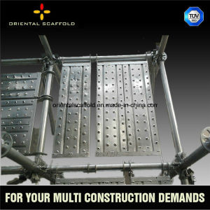 Hot Ring-Lock System Scaffolding Steel Plank pictures & photos