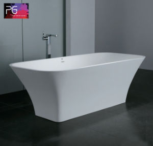 Eco Friendly Unsaturated Polyester Resin White Stone Bathtub for Sale pictures & photos