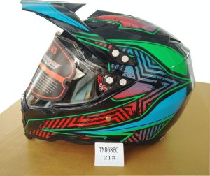 Motocross Fox Helmet with Full Face Shield Double Visor, Casco Moto pictures & photos