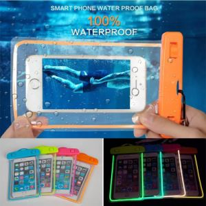 Luminous Waterproof Cell Phone Bag up to 5.5inch pictures & photos
