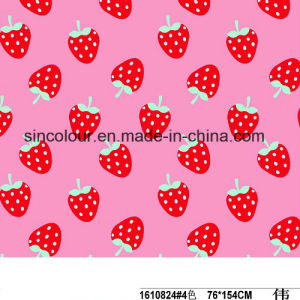 Strawberry Knitted Printing 80%Nylon 20%Spandex Fabric for Swimwear pictures & photos