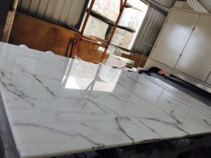 Polished Bianco Calacatta White Marble Slabs