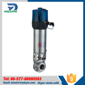 Stainless Steel Sanitation Pneumatic Actuated Butterfly Valve pictures & photos