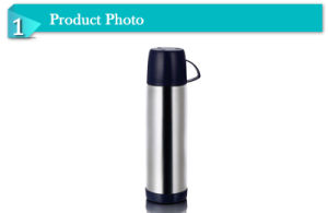 750ml Portable Ss Vacuum Flask China with One Cup pictures & photos
