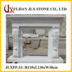 White Marble Polished Fine Carving Stone Fireplace Mantel pictures & photos