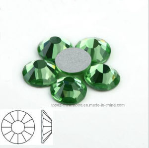 Nail Beauty Semi Precious Stones Flat Back Rhinestone (FB-peridot) pictures & photos