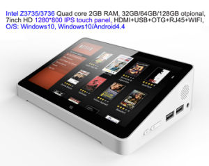 7inch HD Screen Touch Panel Dual Boot Android4.4/Windows10 Intel 3735/3736 2GB/32GB IPTV Streaming TV Box PC Box USB HDMI pictures & photos