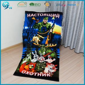 100% Cotton Soft Velour Reactive Printed Custom Design Towel Printing pictures & photos