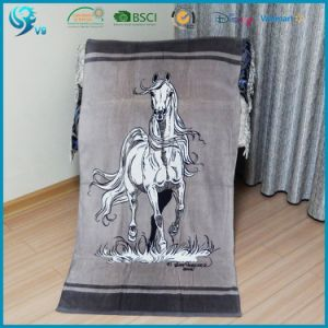 V9 100% Cotton Velour Reactive Printed Beach Towel pictures & photos
