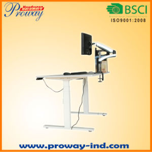 Height Adjustable Electric Standing Desk Frame Only Solid Steel Sit Stand Desk with Automatic Memory Smart Keypad pictures & photos